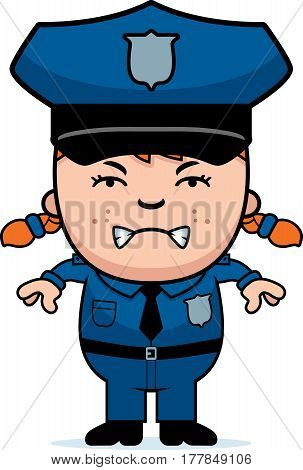 Angry Police Officer