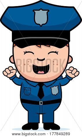 Police Officer Excited