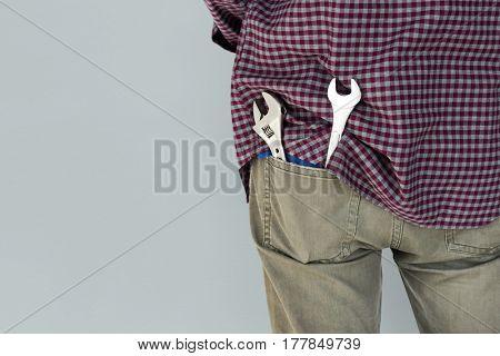 Male Mechanic Engineer Tools Pocket