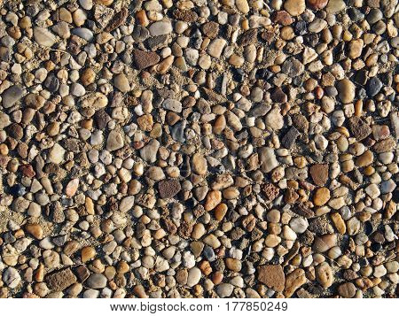 Wall of stones can be used as a background