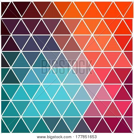 Abstract Colorful Geometric Triangle Polygonal Background, Template. - Stock Vector