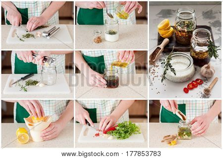 A Step By Step Collage Of Making Meat Marinades