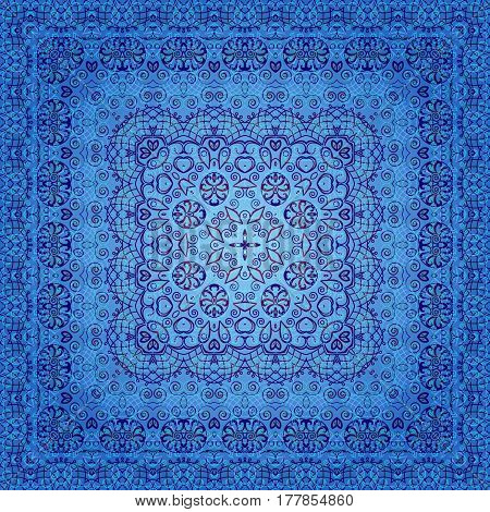 Seamless Background with Abstract Blue Tile Pattern. Eps10, Contains Transparencies. Vector