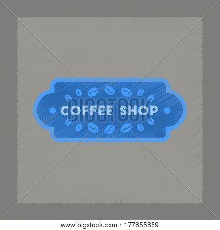 flat shading style icon vintage Coffee shop logo