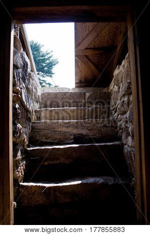 Steps And Entrance To Traditional Root Cellar
