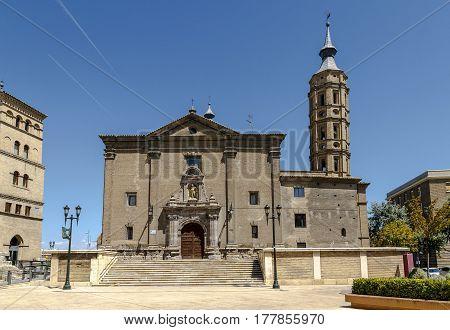 Church of San Juan de los Panetes in Zaragoza. Aragon Spain