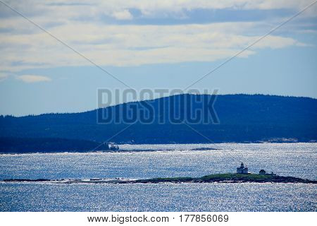 Seascape With Egg Rock Lighthouse In Maine