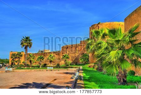 City walls of Azemmour in Morocco, North Africa