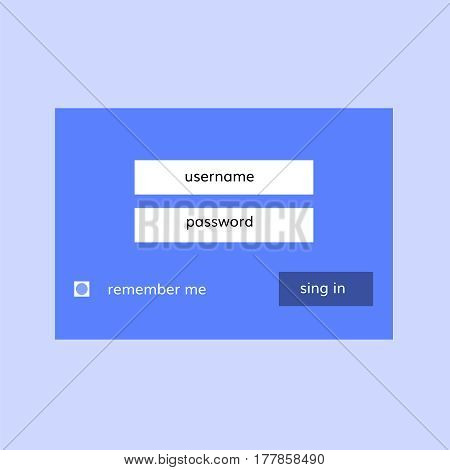 simple login form for website in flat design