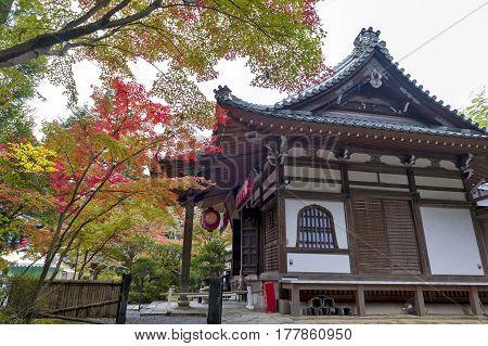 Kyoto, Japan - November 2016: Sekizan Zen-in, Japanese Temple In Kyoto During Autumn