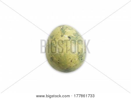 Quail egg from a quail isolated on white