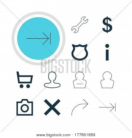 Vector Illustration Of 12 Member Icons. Editable Pack Of Conservation, Man Member, Money Making And Other Elements.