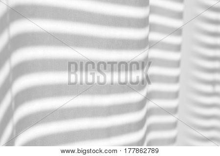 Closeup view of window curtain