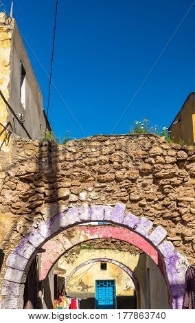 Arched street in Azemmour town - Morocco, North Africa