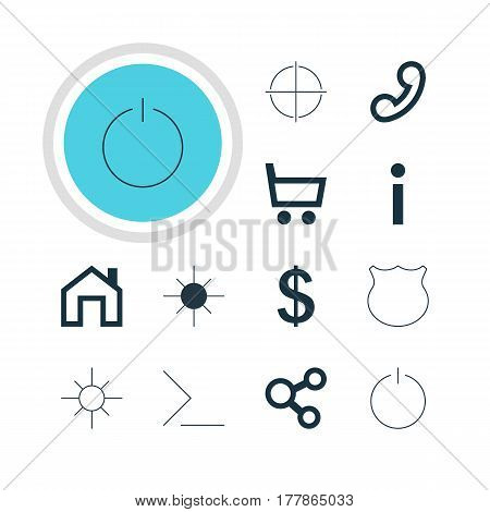 Vector Illustration Of 12 User Icons. Editable Pack Of Startup, Guard, Mainpage And Other Elements.