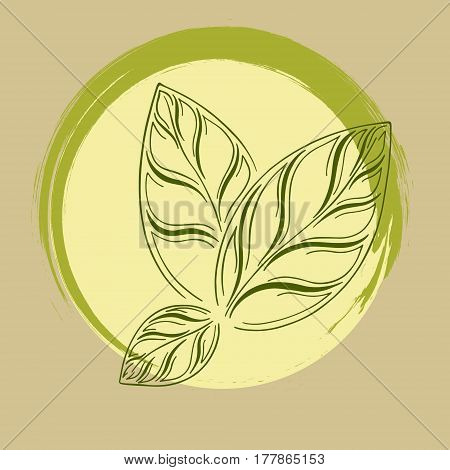 logo with three green leaves and lettering one hundred percent natural