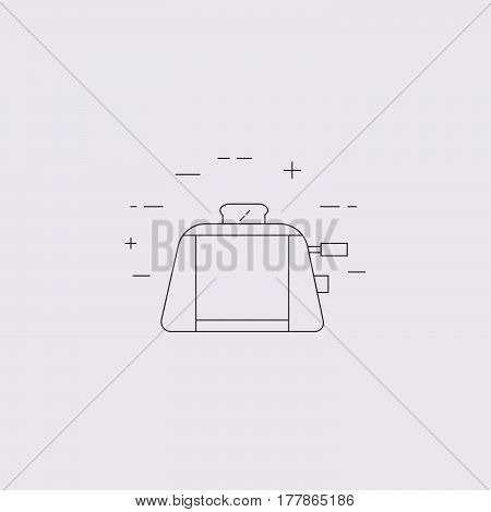 Toaster Isolated Line Icon.