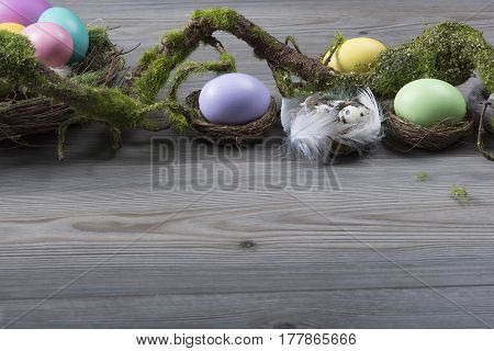Easter Eggs With Moss Brunch