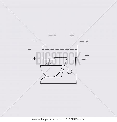 Mixer Isolated Line Icon.
