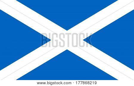 Flag Of Scotland St Andrew's Cross 3D illustration