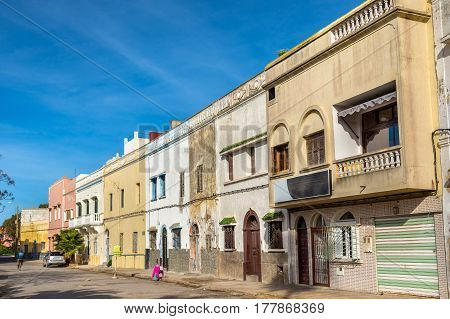 Buildings in El Jadida town in Morocco, North Africa