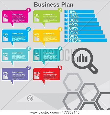 Infographic design template can be used for workflow layout diagram number options web design. Infographic business concept with 10 options parts steps or processes. Abstract background.