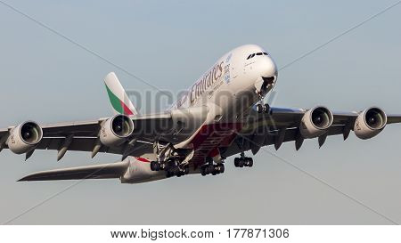 Emirates Airbus A380 Airplane