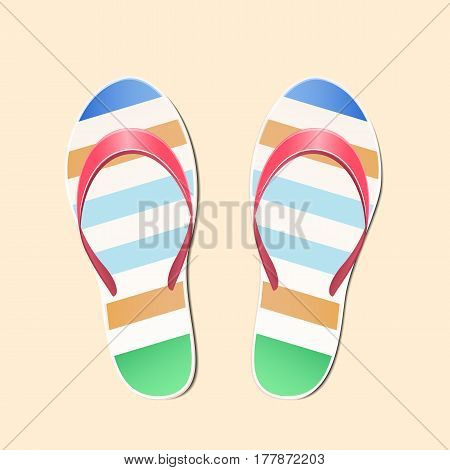Beach slippers summer symbol - vector illustration design.