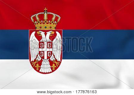 Serbia Waving Flag. Serbia National Flag Background Texture.