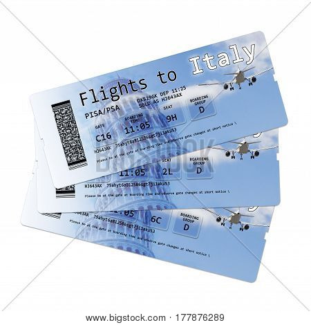 Airline boarding pass tickets to