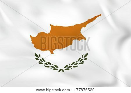 Cyprus Waving Flag. Cyprus National Flag Background Texture.