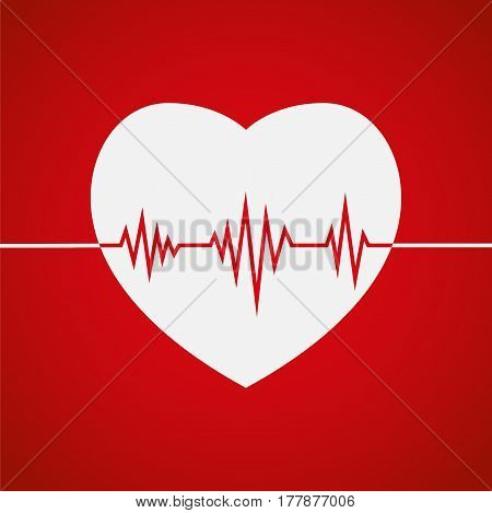 Heartbeat Heart Beat Pulse Flat Icon For Medical Apps And Websites