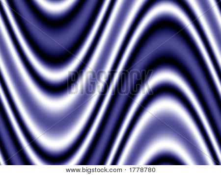Op Art Moving Waves One Blue