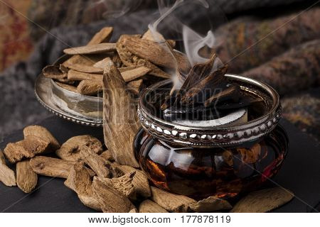 Agarwood, also called aloeswood, aloes,  incense chips