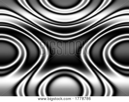 Op Art Moving Waves Two Black