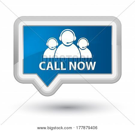 Call Now (customer Care Team Icon) Prime Blue Banner Button
