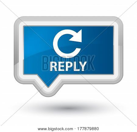 Reply (rotate Arrow Icon) Prime Blue Banner Button