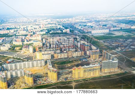 City and construction from the height of the industry construction expansion of residential quarters.