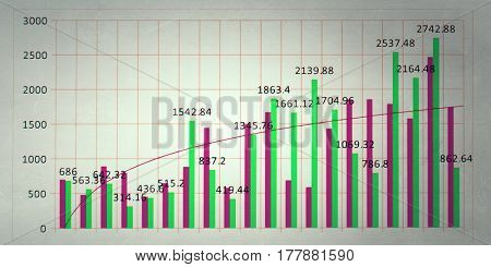 Analysis of sales data . Mixed media