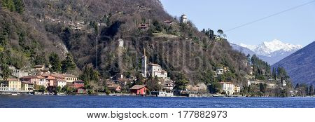 San Mamete Village In The Municipality Of Valsolda, Italy