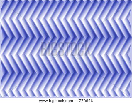 Op Art Scale Fish Blue