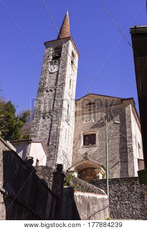 Church Of San Mamete In The Municipality Of Valsolda