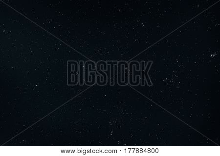 Dark Night Starry Sky Background. Night View Of Natural Glowing Stars
