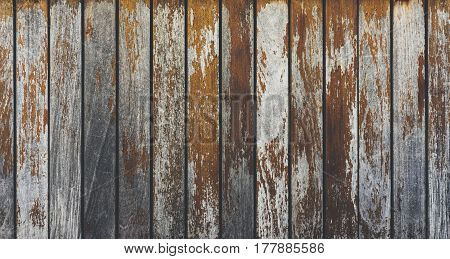 Grey and orange background with wooden texture horizontal top view isolated vintage dark wood backdrop old light blue rustic board space blank back on the table mockup nuture wall horizontal