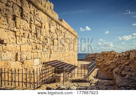 The old fortress in the port of Paphos