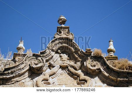 Detail of church in the Andalusian region of Spain