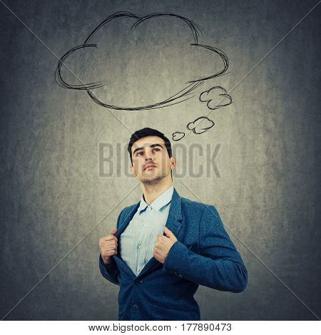 Thought Cloud Businessman
