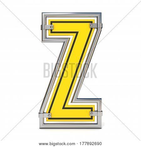 Framed Traffic Road Sign Font Letter Z 3D