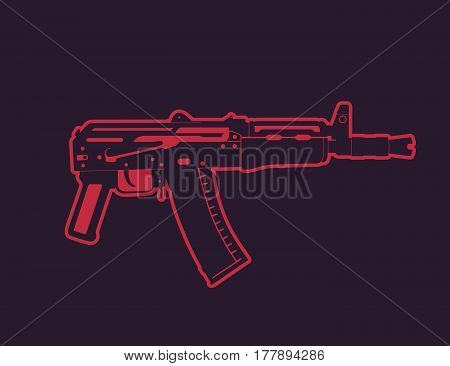Soviet automatic carbine, shortened assault rifle, russian gun