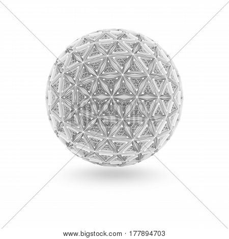 Abstract architectural sphere. 3d object. 3d illustration